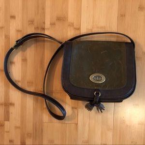 Tignanello handbag - olive & burgundy